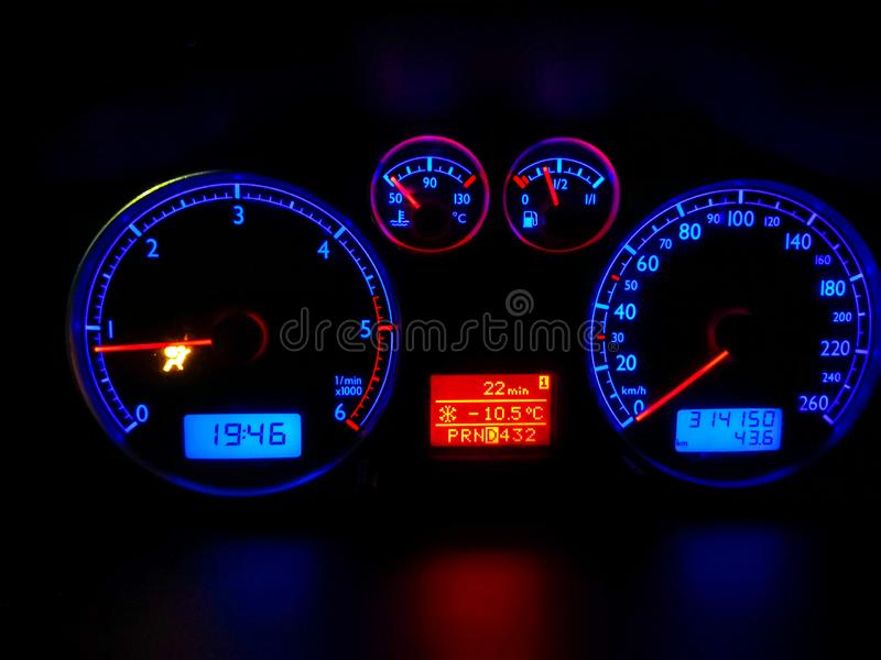 Car dashboard modern automobile control panel royalty free stock photo