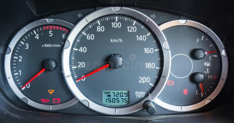 Car dashboard odometer royalty free stock images