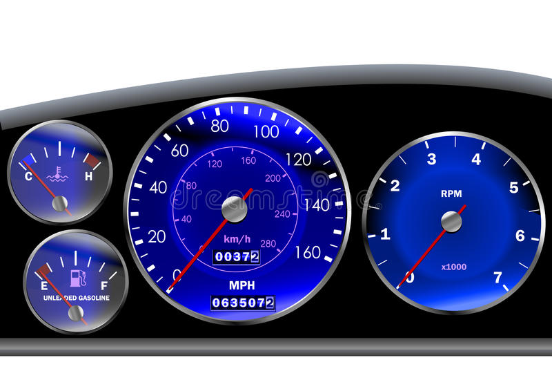 Download Car Dashboard Speedometer For Motor Or Sportscar Stock Vector - Image: 19398374