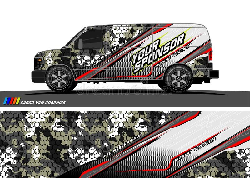 Car decal design vector. abstract background for vehicle vinyl wrap. Vector stock illustration