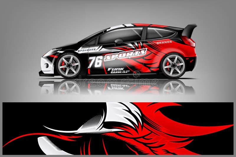 Car decal wrap design vector royalty free stock photos
