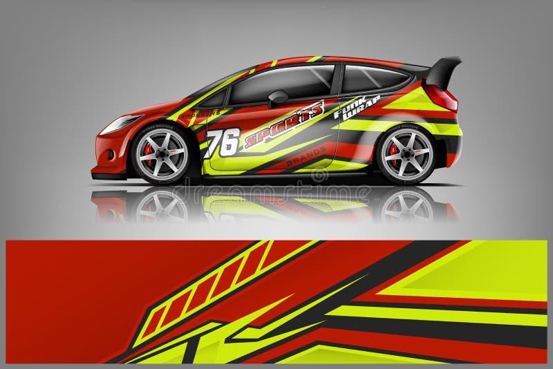 Car decal wrap design vector stock images