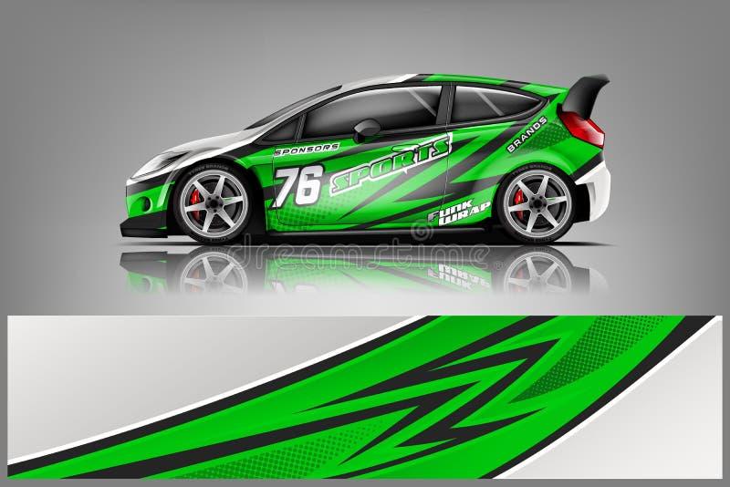 Car decal wrap design vector stock photos