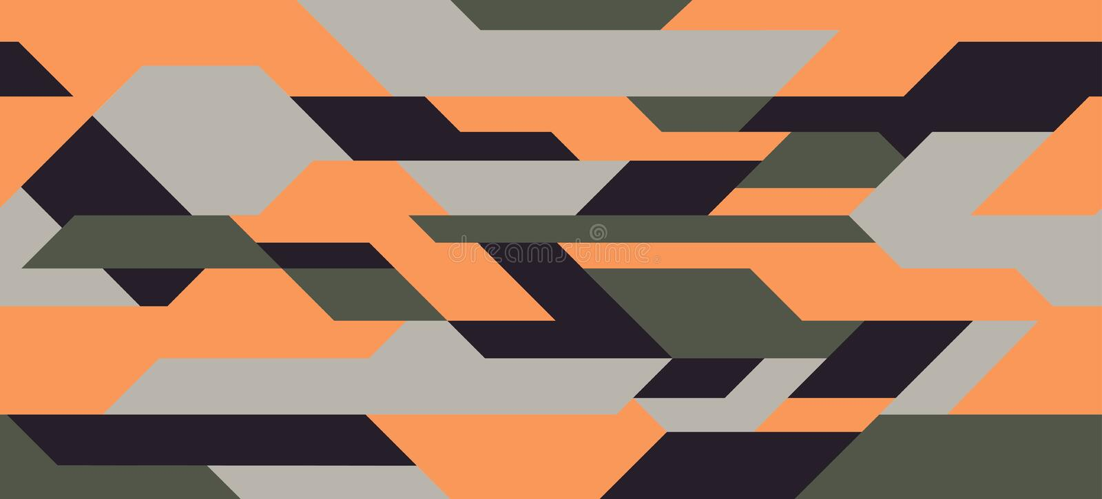 Car decal wrap design vector. Graphic abstract stripe racing background kit designs for vehicle royalty free illustration