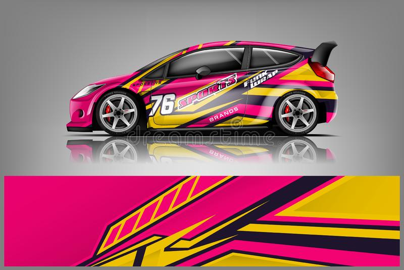 Car decal wrap design vector royalty free stock photo