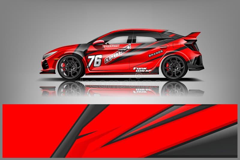 Car decal wrap design vector royalty free stock photography