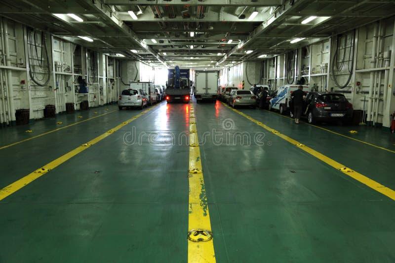 Car deck of a ferryboat