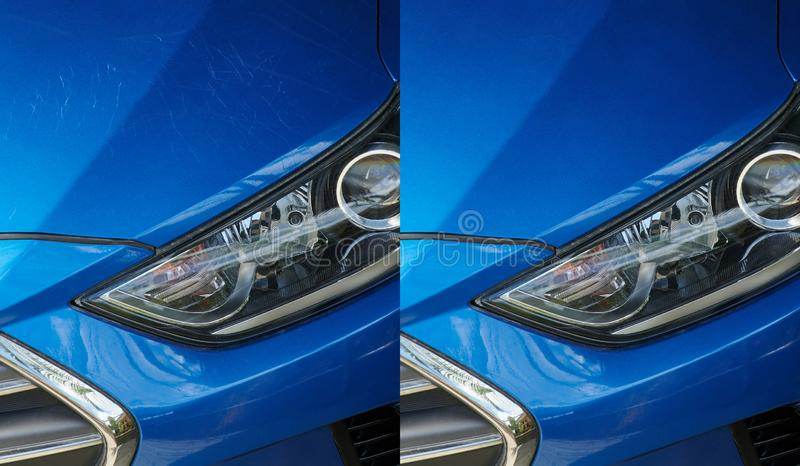 Car detailing  theme royalty free stock photography