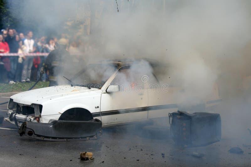 Car detonation stock photography