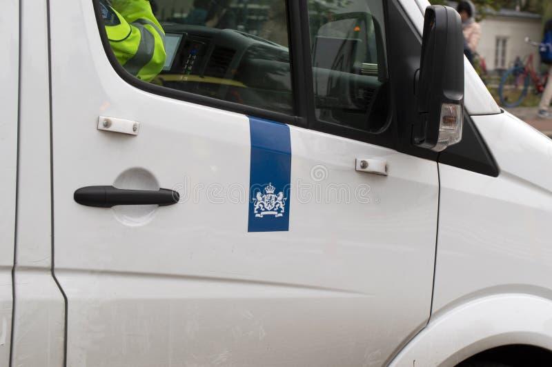 Car Dienst Justitiele Inrichtingen W Amsterdamie Holandia 2019 obrazy stock