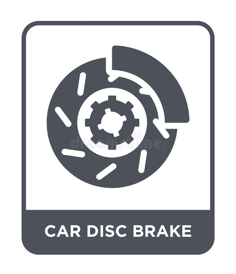Car disc brake icon in trendy design style. car disc brake icon isolated on white background. car disc brake vector icon simple. And modern flat symbol for web stock illustration