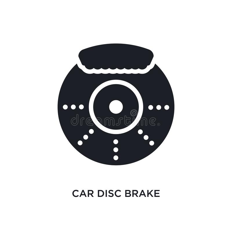 car disc brake isolated icon. simple element illustration from car parts concept icons. car disc brake editable logo sign symbol stock illustration