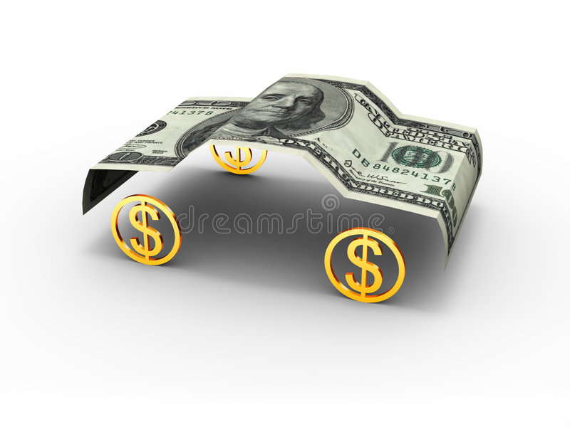 Download Car dollar stock illustration. Image of rich, automobile - 547579