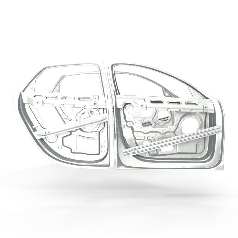 Car Door Frames On White. 3D Illustration Stock Illustration ...