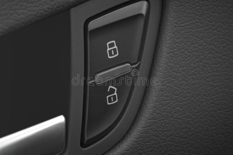 Car door handle and lock and unlock royalty free stock image
