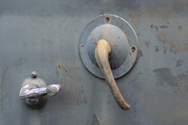 Car Door Handle with Rust Surface, royalty free stock photo