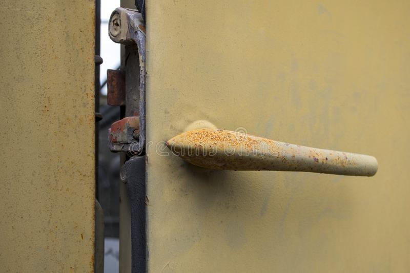 Car Door Handle with Rust Surface stock photography
