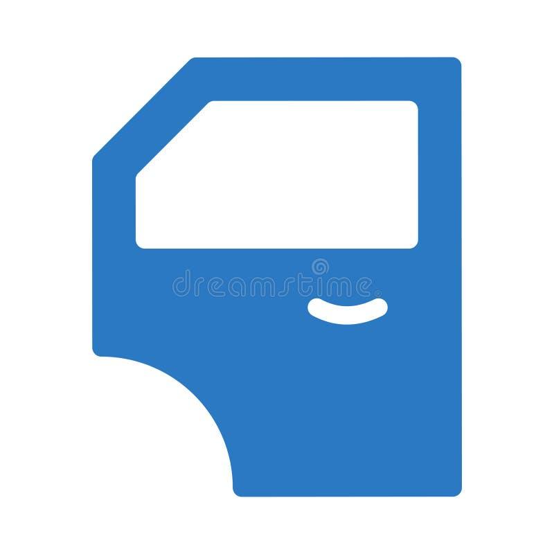 Car door glyph color flat  icon vector illustration