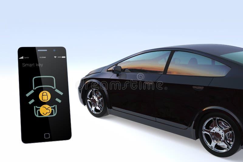 Download Car Door Lock And Unlock By Smart Phone. Stock Illustration    Image: 51403494