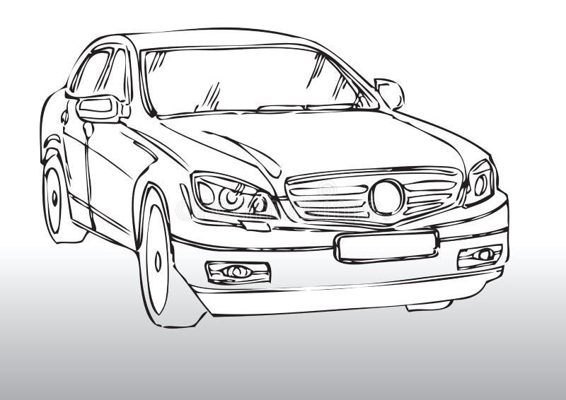 Car drawing vector illustration
