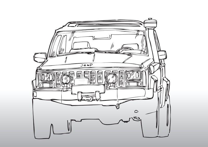Car drawing truck royalty free illustration