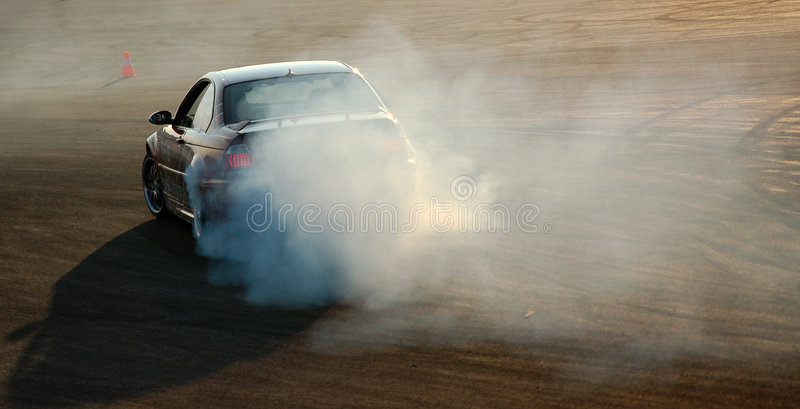 Car drifting royalty free stock photography