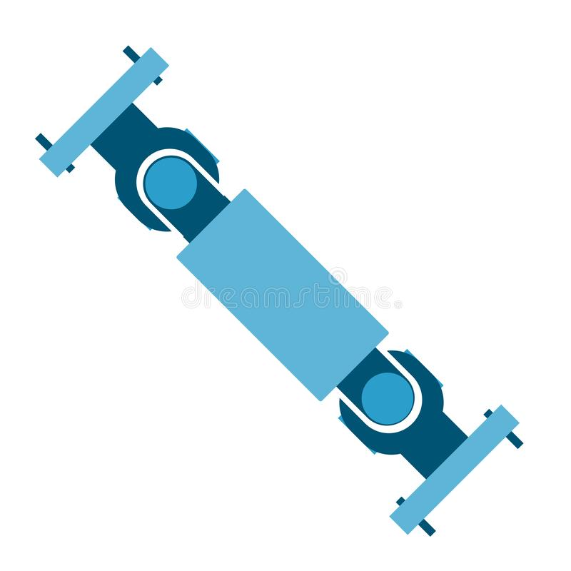 Car drive shaft isolated icon on white background. Eps 10 vector stock illustration