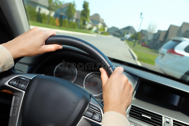 Car driver. Auto background stock images
