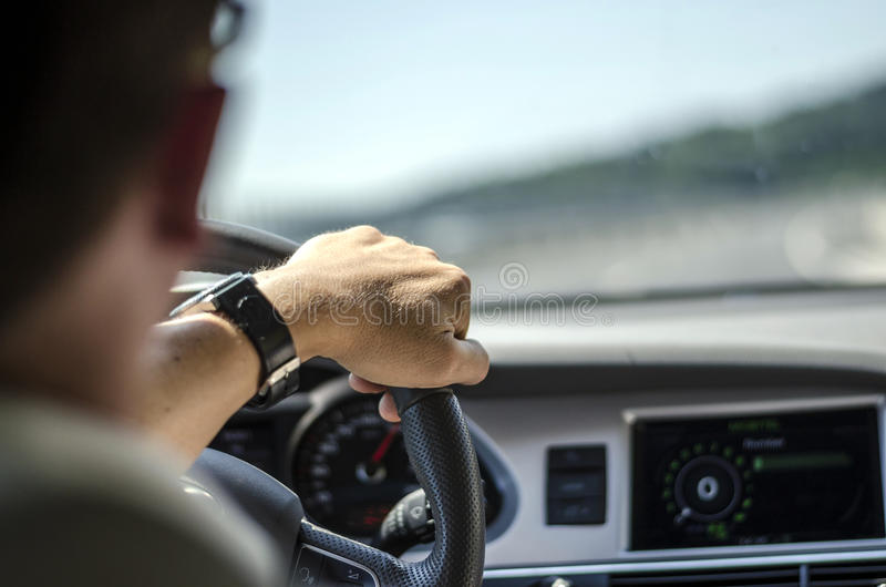 Car driver stock photography