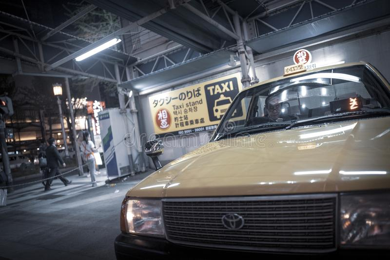 Taxi driver in japan stock photos