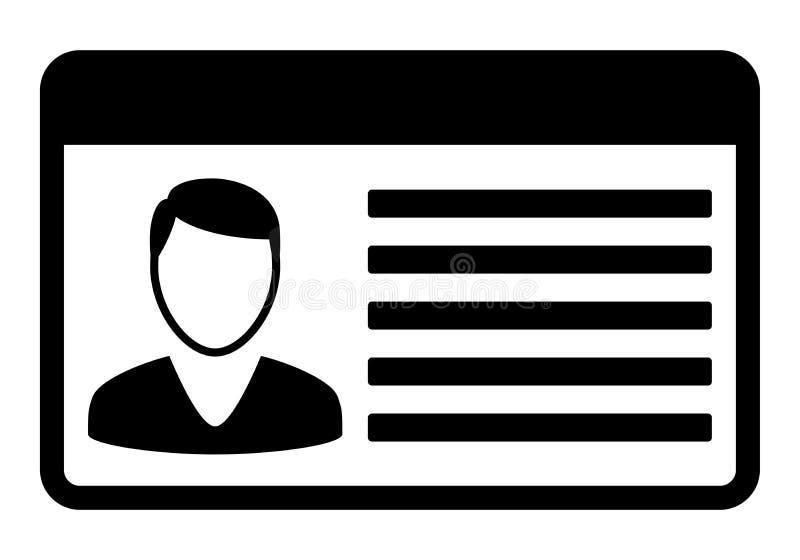 Car driver licence card iocn. royalty free illustration