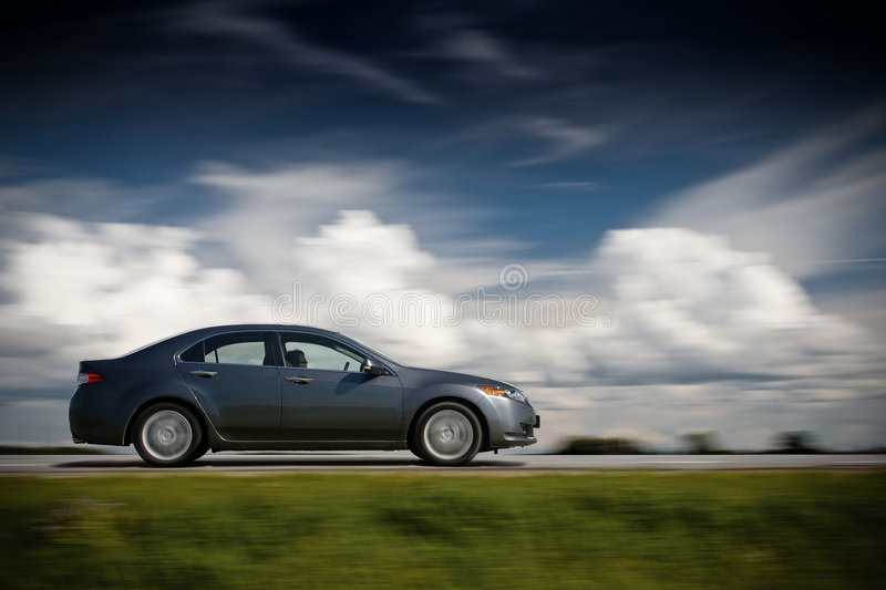 Car driving fast. royalty free stock images