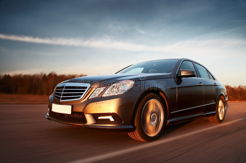 Car driving fast royalty free stock images