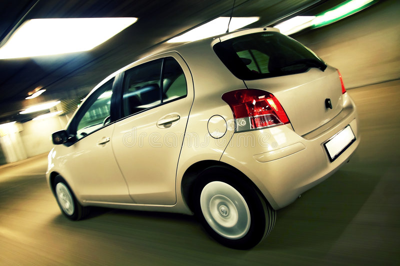 Download Car Driving Fast In Parking House Stock Image - Image: 8947081