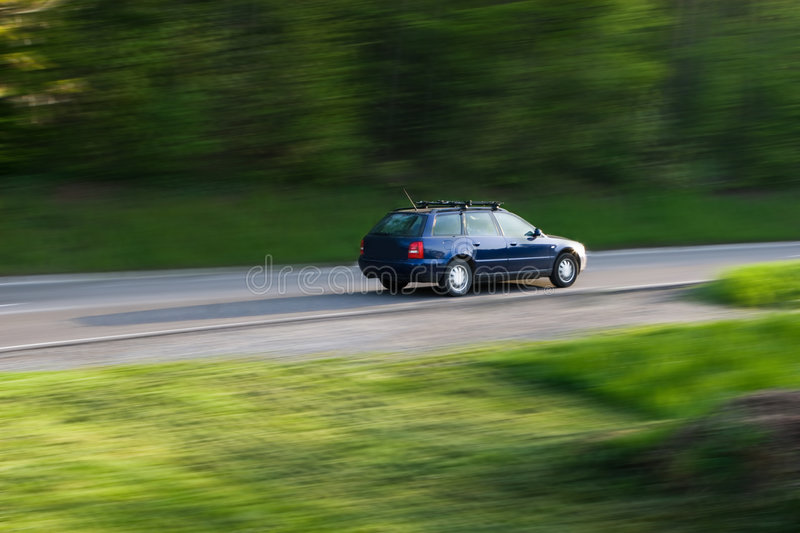 Car Driving on the Road royalty free stock photos