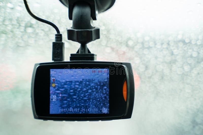 Car DVR Front camera car recorder stock image