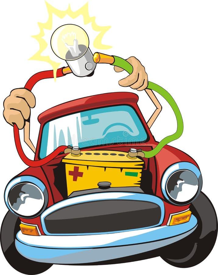 Car electric circuit repair royalty free illustration