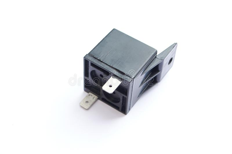Car electromagnetic relay switch isolated. On white background stock photos