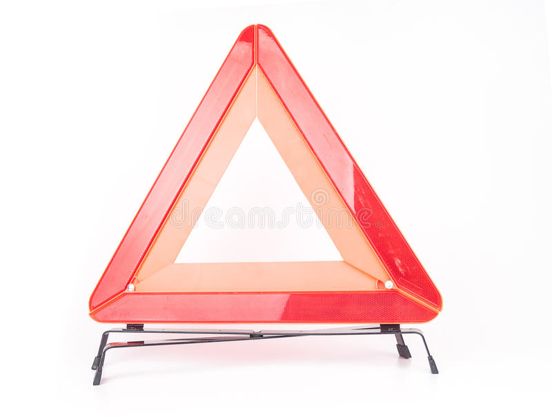 Car emergency sign isolated on white. Background royalty free stock photography