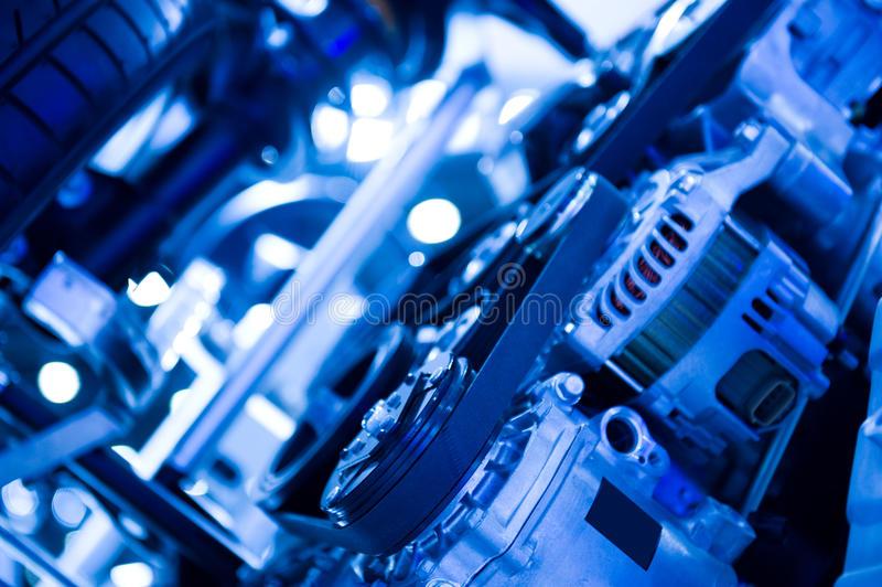 Car engine. An engine of a modern car royalty free stock photography