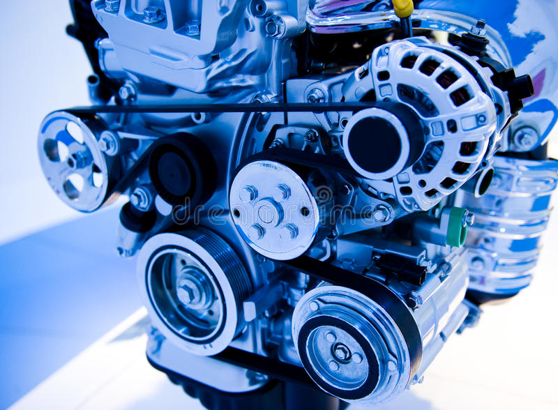 Car engine. An engine of a modern car royalty free stock photos