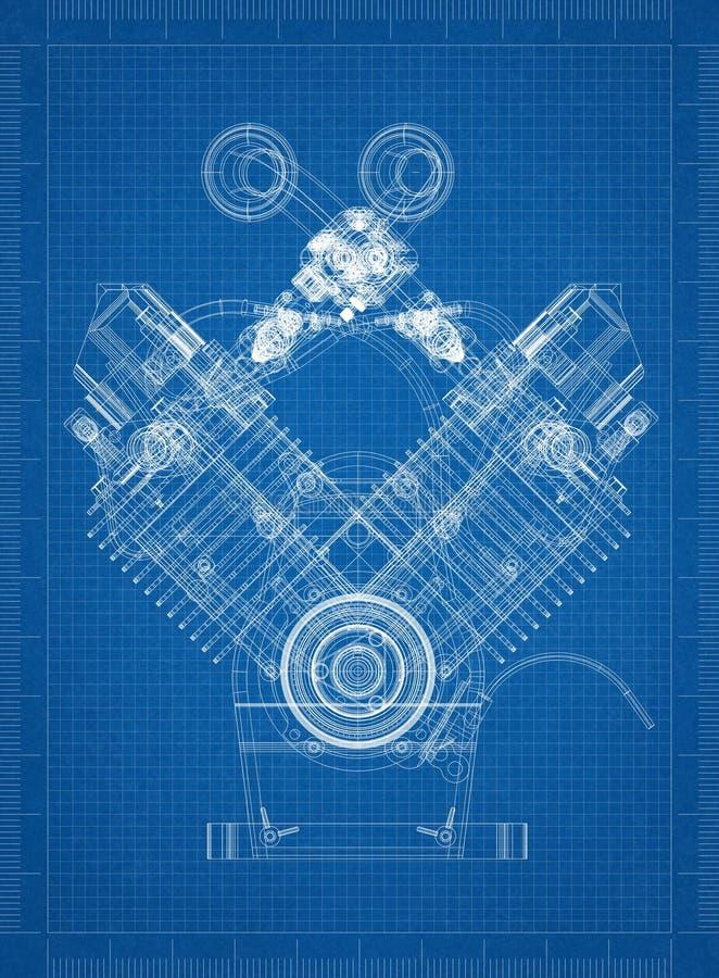 Marvelous Download Car Engine Blueprint Stock Illustration. Illustration Of Engine    117935054