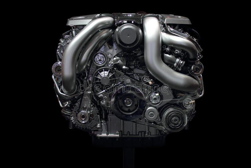 Car engine chrome front stock photo