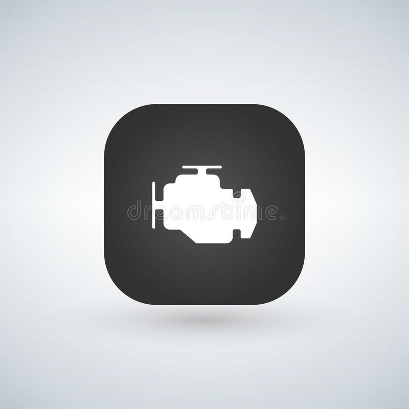 Car engine icon isolated on app button. Trendy Simple symbol for web site design or button to mobile app. Logo illustration vector illustration