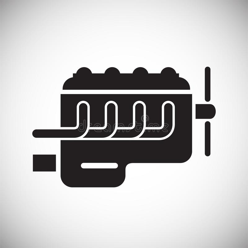 Car engine icon on white background for graphic and web design, Modern simple vector sign. Internet concept. Trendy symbol for royalty free illustration