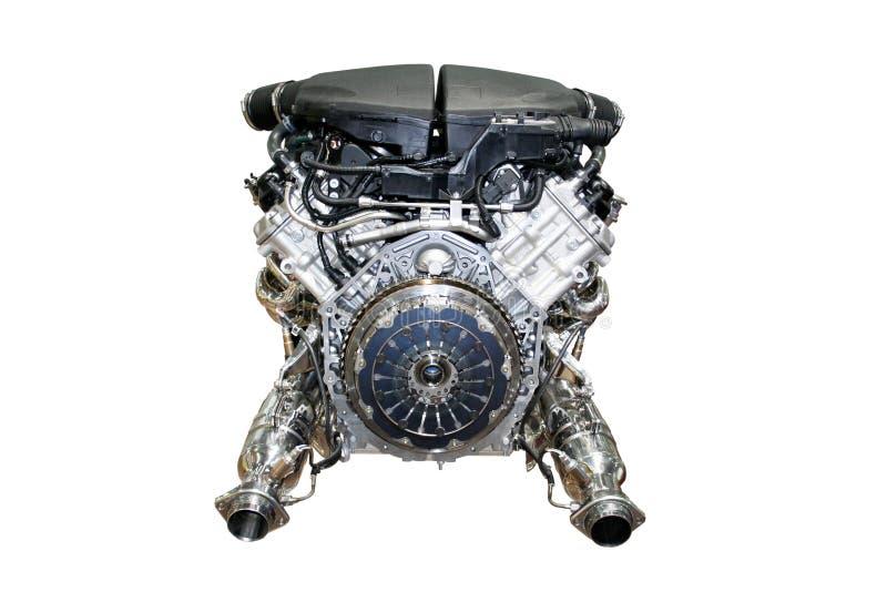 Car engine isolated stock photo