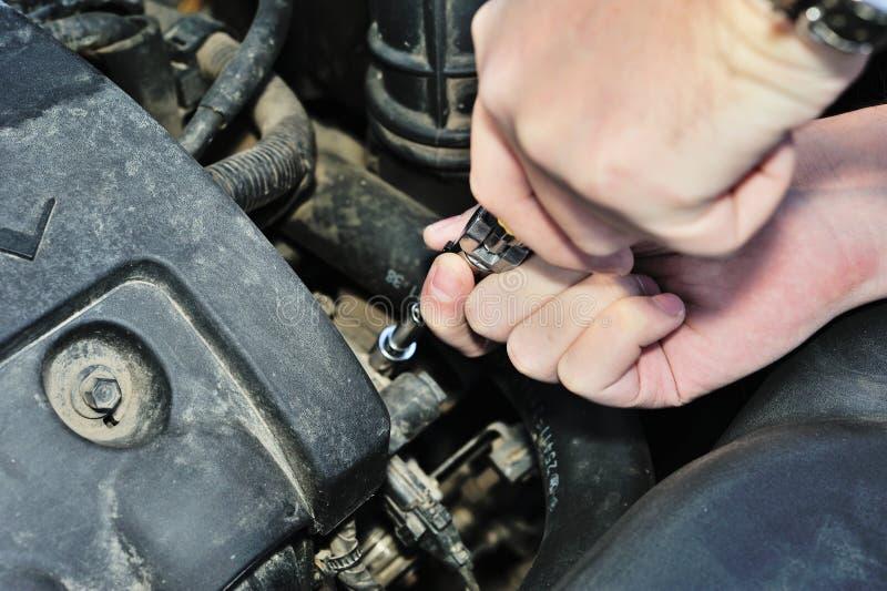 Car engine mechanic stock photography