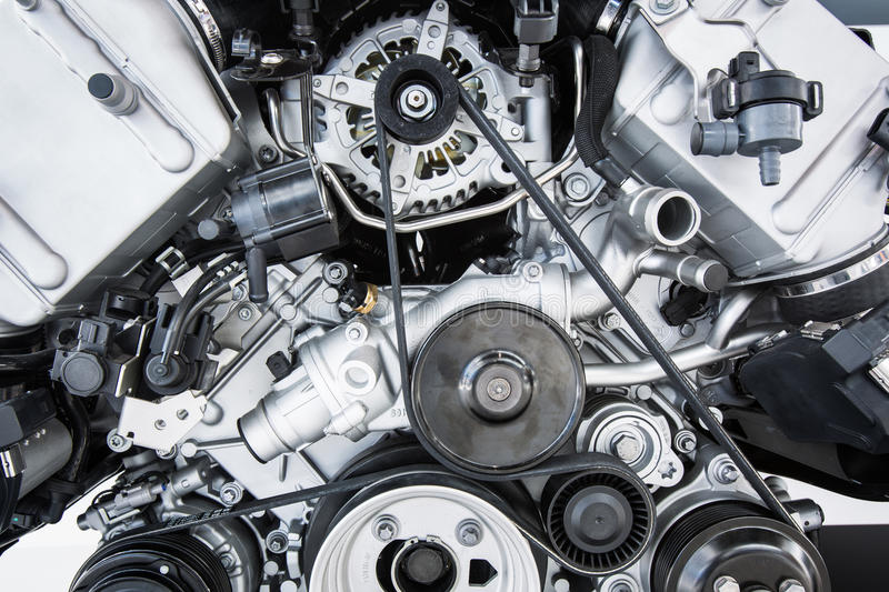 Car Engine - Modern powerful car engine royalty free stock photography