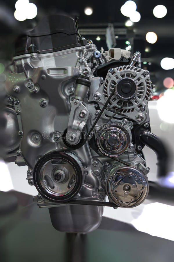Car Engine - Modern powerful car. Engine(motor unit - clean and shiny stock photography