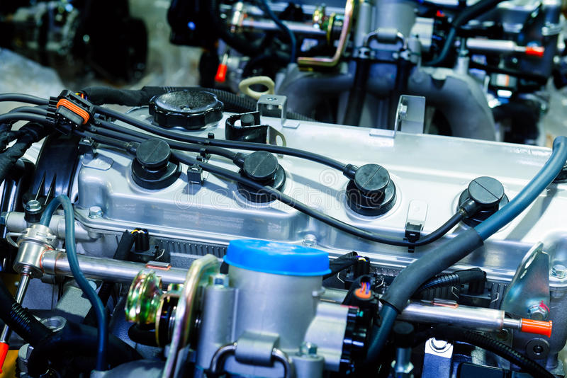 Car Engine. Modern powerful (motor unit - clean and shiny stock photos